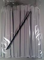 Трубочки для напитков d4,8см-21 см в индивид.упак. черная/ровная(уп.200шт.)