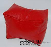 Подлокотник подставка для маникюра и педикюра красный