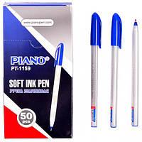 Ручка масляная Piano Correct PT-1159 трехгранная/белый корпус (синяя)