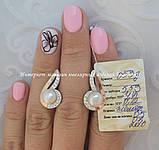 Серебряные серьги с накладками золота с жемчугом, фото 2