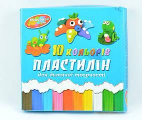"""Пластилин """"Колорит"""" 210 гр/10 цв."""