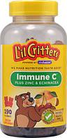 L'il Critters Immune C + Zinc & Echinacea  190 шт витамины детские жевательные