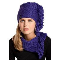 Тепла в'язана молодіжна шапочка для дівчат від Loman Польща