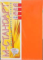 Бумага A4 'М-Стандарт' ИНТЕНСИВ 240/OR43 (Orange) 100 л./80 гр.