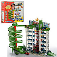 Гараж 922, мега парковка, 6 этажей, 4 машинки, крутой спиральный спуск, в коробке, отличная игра для ребенка