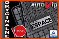 Резиновые коврики RENAULT ESPACE 5s 2002-  с лого