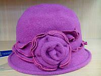 Шляпы RABIONEK из  шерсти с цветком, темновишневый цвет