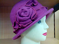 Шляпы RABIONEK из  шерсти с цветком, фуксия цвет