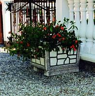 Вазон садовый для цветов «Кадушка» бетонный