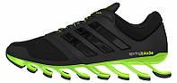 Мужские кроссовки Adidas Springblade black/green, адидас спрнгблейд