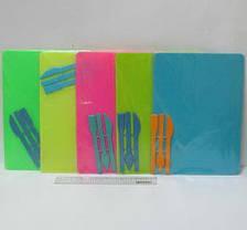 """Доска для пластилина """"Люкс Колор"""" ДПН-Е0 НЕОН (180*250 мм.)+стеки, фото 3"""