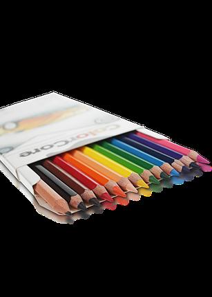 "Карандаши цветные 12 цветов ""MARCO"" ColorCore Hex 3100-12CB, фото 2"