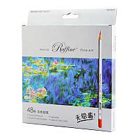 """Карандаши цветные 48 цветов """"MARCO"""" Raffine 7100-48CB"""