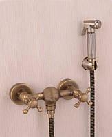Гигиенический душ со смесителем набор бронза 6133-2 Deco Bronze бронзовая лейка гигиеническая со смесителем