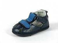 Детская летняя обувь пинетки внутри полностью кожа р.10 синие