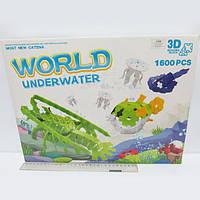 """Конструктор пластиковый K1388 3D """"Подводный мир"""" 1600 деталей"""