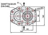 151 л Шестеренчатий (шестерний) гідравлічний насос Hiposan (4 Болта) ISO, фото 10
