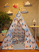 """Детский игровой домик, вигвам, палатка, шатер, шалаш """"Небесные перышки"""", фото 1"""