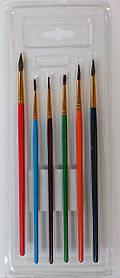 Набір кистей поні 1969-6 круглі (6 шт)