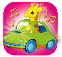 Интерактивная игрушка Tomy Push&Go Жираф в кабриолете (T72201)