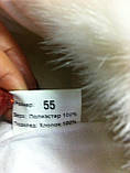 Ушанка для девочек цвет бежевый с белым мехом , фото 5