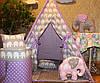 """Детский игровой домик, вигвам, палатка, шатер, шалаш """"Слоны"""""""
