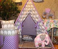 """Детский игровой домик, вигвам, палатка, шатер, шалаш """"Слоны"""", фото 1"""