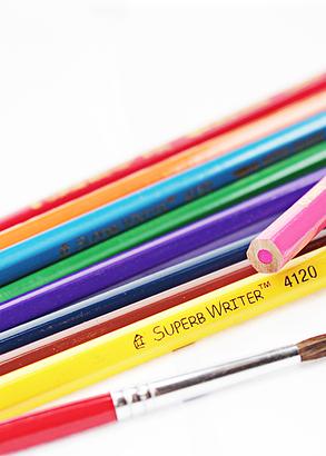 """Карандаши цветные акварельные 12 цветов """"MARCO"""" Superb Writer с кисточкой 4120-12CB, фото 2"""