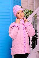 """Куртка  демисезонная для девочки c шапкой в комплекте.""""Одри"""""""