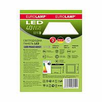 EUROLAMP LED Светильник 60*60 (панель) 40W 4000K белая рамка