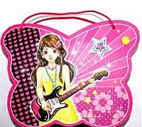"""Блокнот на замке D640302 """"Девушка"""" (сумочка)+зеркальце+музыка в подарочной упаковке"""