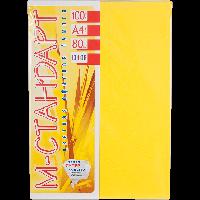 Бумага A4 'М-Стандарт' ИНТЕНСИВ 210/CY39 (Lemon) 100 л./80 гр.