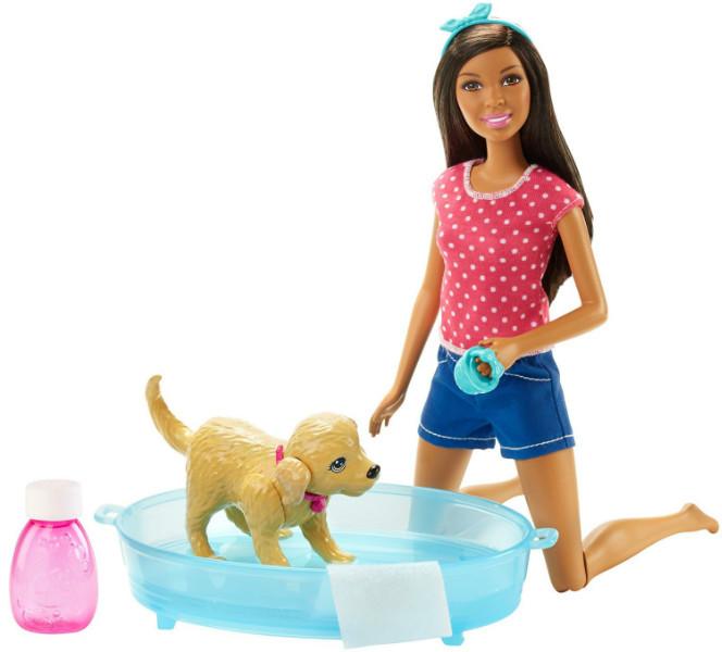 Barbie Барби Веселое купание щенка афро-американка Splish Splash Pup Playset African-American