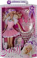 "Кукла ""Susy"" 1006 с аксессуарами в комплекте, блондинка, 30 см, от 3-х лет. Модная кукла Сьюзи. Барби Susy."