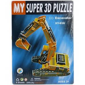 """Пазлы 3D картон """"Эскаватор"""", фото 2"""