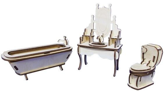Деревянный конструктор 3 д Юнга Ванная комната Быстрая доставка Гарантия качества