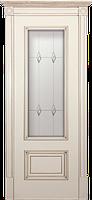 Двери межкомнатные ваниль Йорк ПО с античным золотом