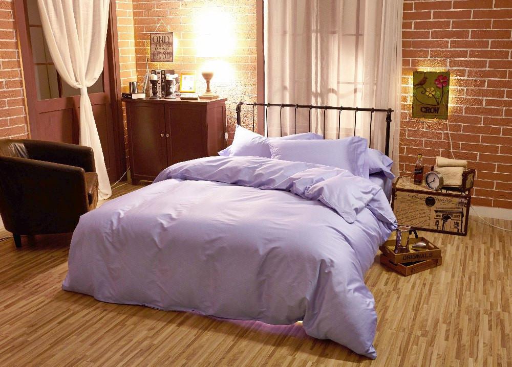 Постельное белье Сатин однотонный Purple (Lilac)  ТМ Царский дом (Семейный)