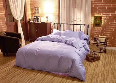 Постельное белье Сатин однотонный Purple (Lilac)  ТМ Царский дом (Семейный), фото 2