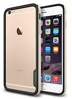 Бампер Spigen для iPhone 6S Plus/6 Plus Neo Hybrid EX Metal, Champagne Gold, фото 1