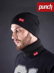Хомут шарф черный Punch - Snug, Black