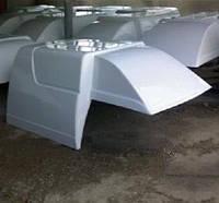 Надстройка платформы жесткая Таврия-Пикап. Будка из стеклопластика ЗАЗ 110557.8534012-20 с распашными дверями
