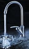 Кран смеситель однорычажный на кухню для мойки раковины 0101, фото 2