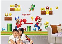 """Наклейка Виниловая 3D """"Супер Марио"""" 92*65см"""