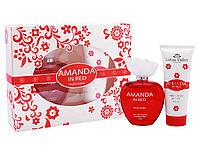 Набор женский ( т/в 100 мл +гель для душа 100 мл) Amanda in Red наб жен Lotus Valley