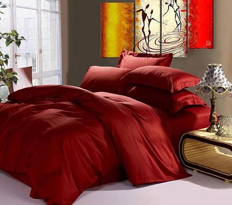 Постельное белье Сатин WINE RED ТМ Царский дом  (Евро), фото 2
