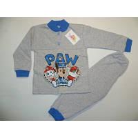 """Детская пижама (начес, накат) на мальчика """"Патруль"""" 28 размер. Теплая пижама, зимняя пижама"""