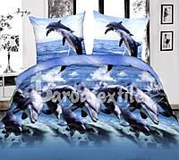 Постельный комплект полуторный недорого с дельфинами