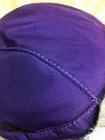 Фиолетовая шапка -ушанка для девочек , фото 4