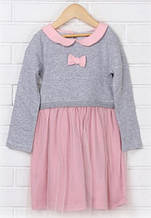 Нарядное платье с шифоном, розовый (р.122)